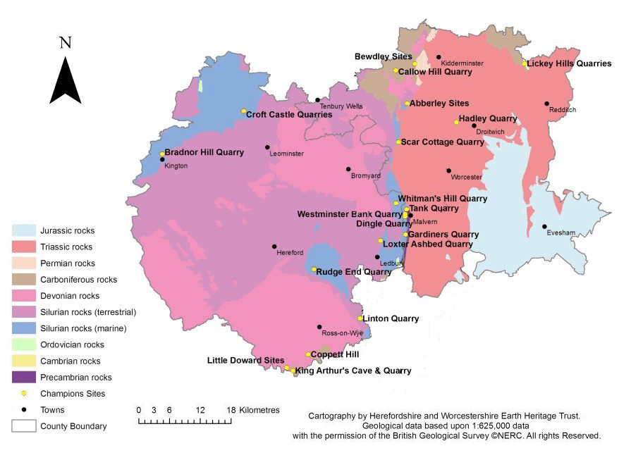 Champions sites map