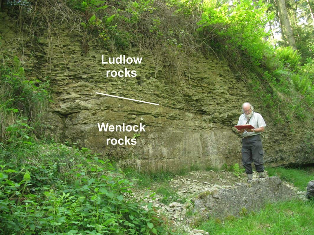 Golden spike at Wenlock-Ludlow boundary, Pitch Coppice Quarry