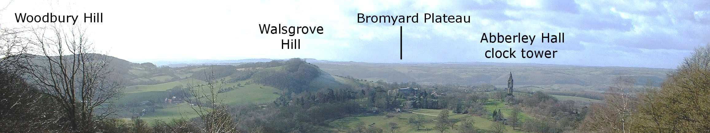 View from Walsgrove Hill - Abberley