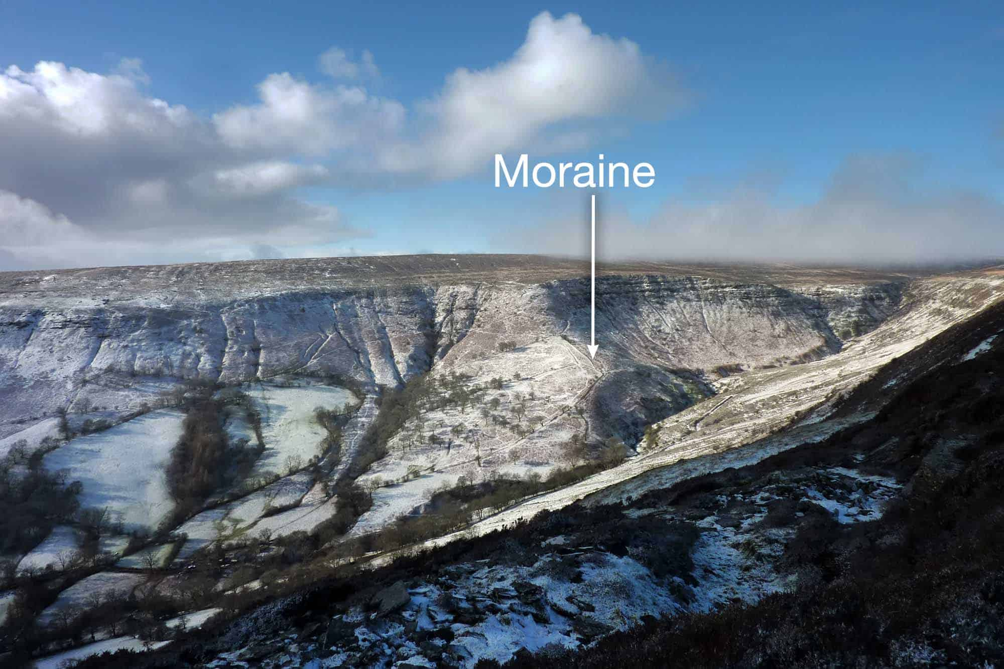 Moraine in Olchon Valley Black Mountains