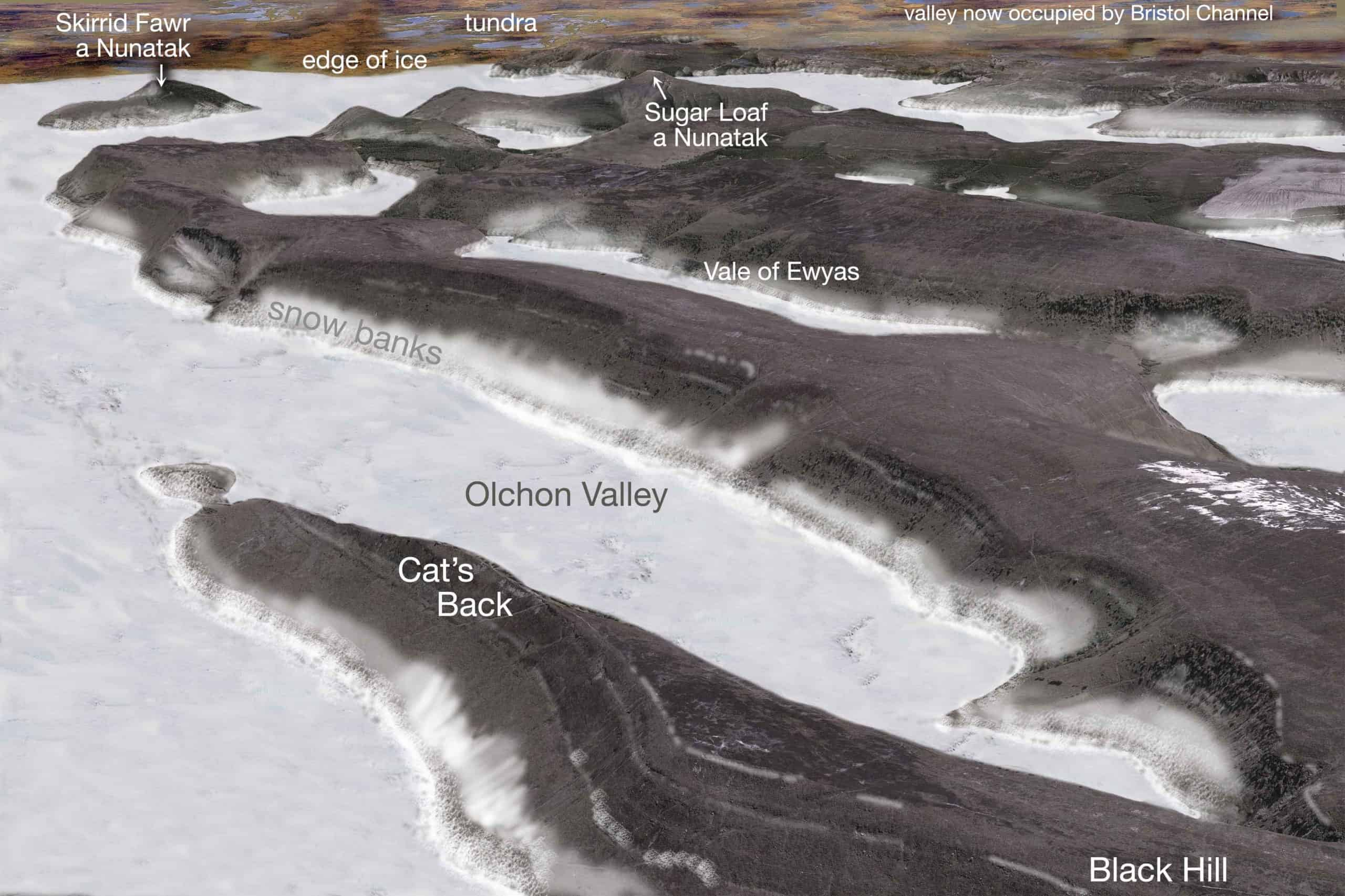 Black Mountains in the last ice age